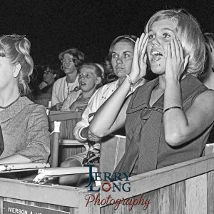 The crowd at the Beatles concert on August 23, 1964.